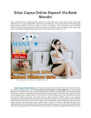 Situs capsa online deposit via bank mandiri