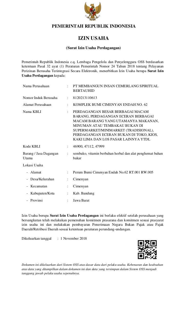 08170009168 Surat Ijin Usaha Perdagangan Mics1