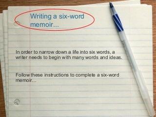 Memoir assignment