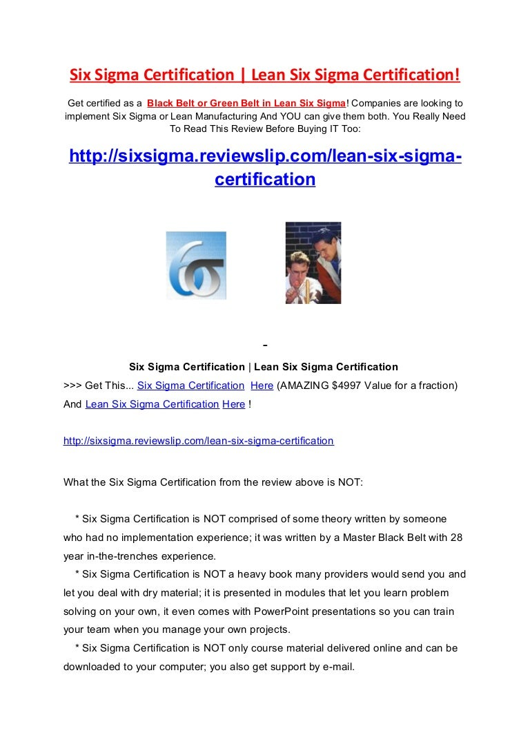 Six sigma certification 1betcityfo Image collections