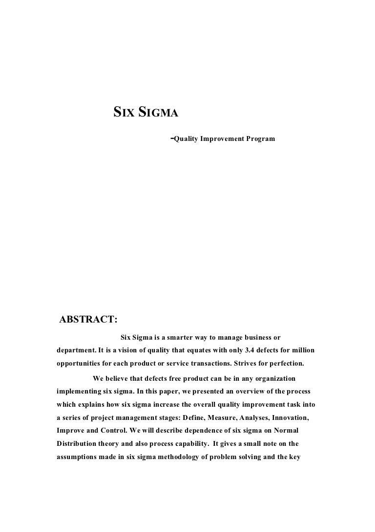 Six sigma full report xflitez Gallery