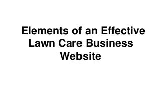 Elements of an effective lawncare website