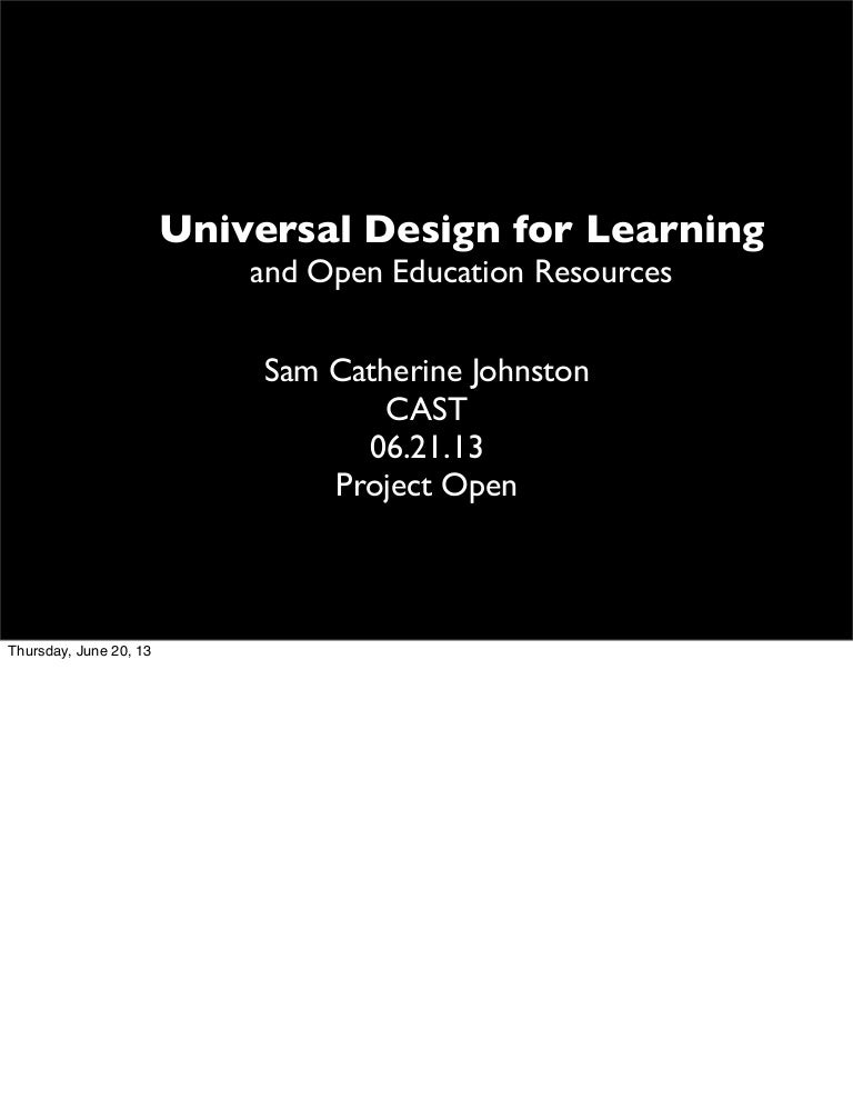 Universal Design for Learning and Open Educational Resources - TAACCC…