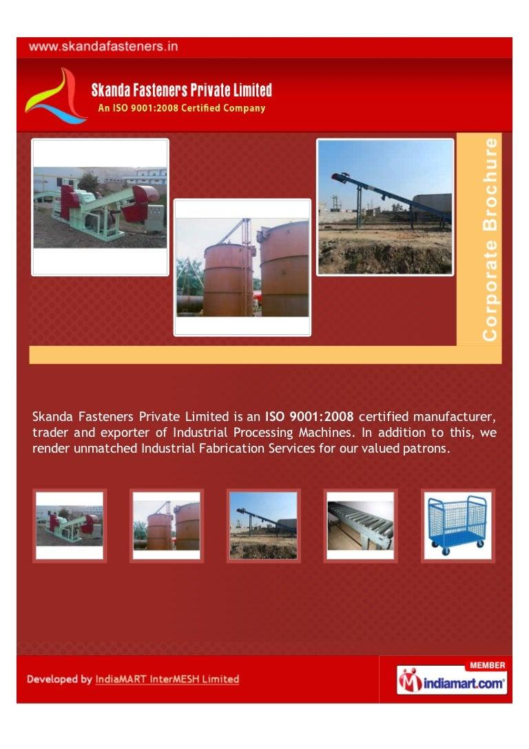 Skanda Fasteners Private Limited, Bhiwadi, Wood Chipper Machine