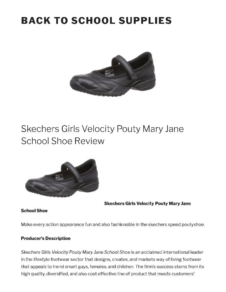 Skechers girls velocity pouty mary jane
