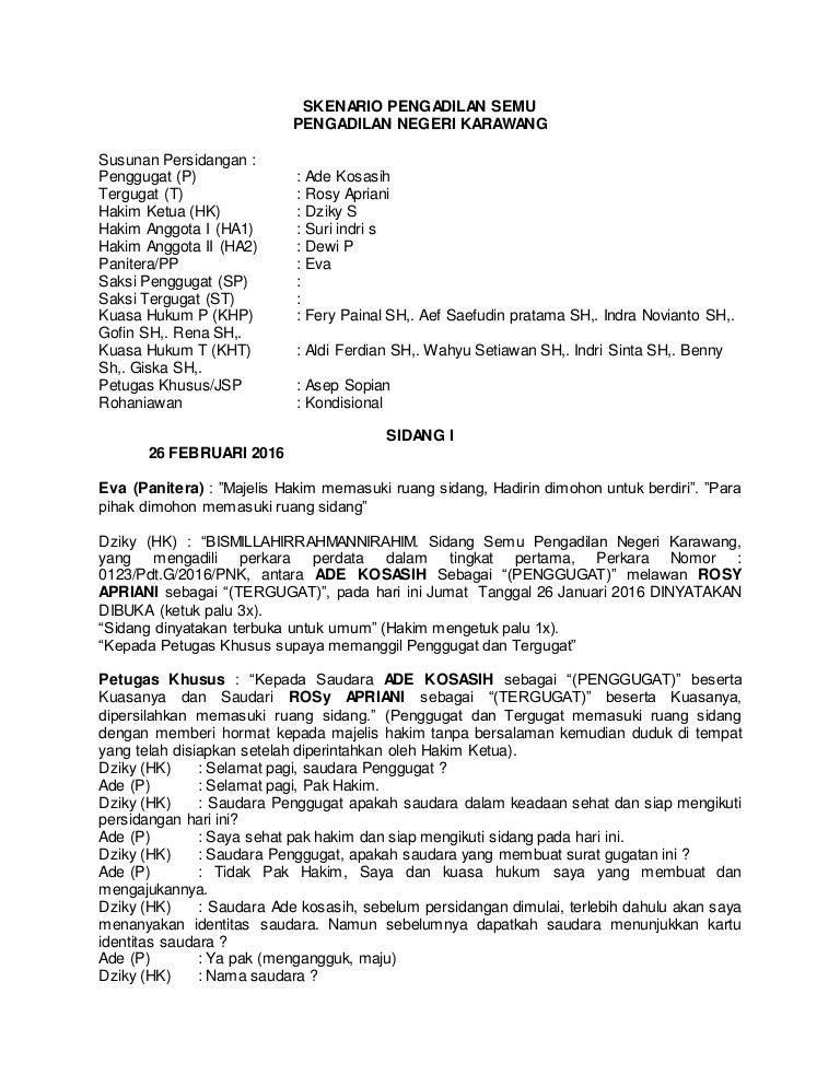 49+ Contoh surat jawaban cerai gugat terbaru terbaru
