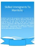 Skilled immigrants to manitoba