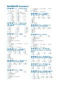 Maths A - Skill sheets answers