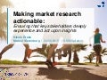 SKIMspiration 2015: Making market research actionable: ensuring that key stakeholders deeply experience and act upon insights