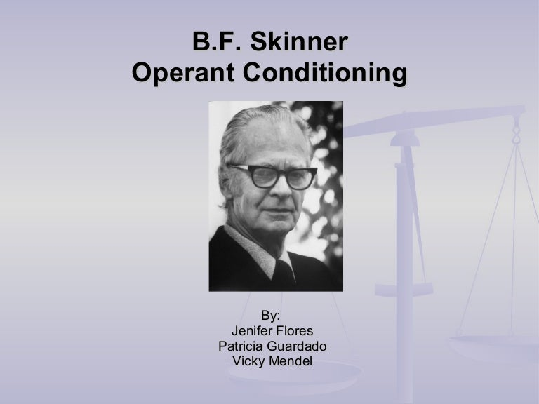 skinner operant conditioning essay Theory of operant conditioning instrumental conditioning, otherwise known as operant conditioning is a theory that bf skinner came up with and is defined as a learning process by which the consequence of an operant response affects the likelihood of the response recurring in the future.
