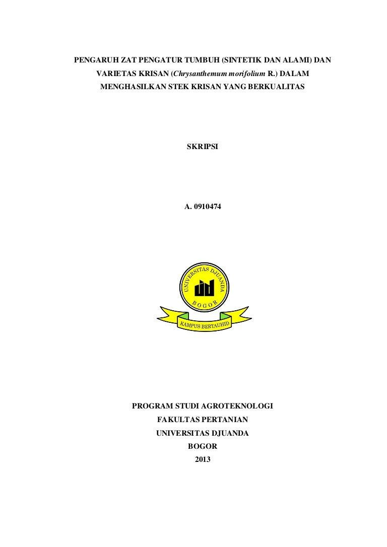 Contoh Skripsi Agribisnis Contoh Soal Dan Materi Pelajaran 8