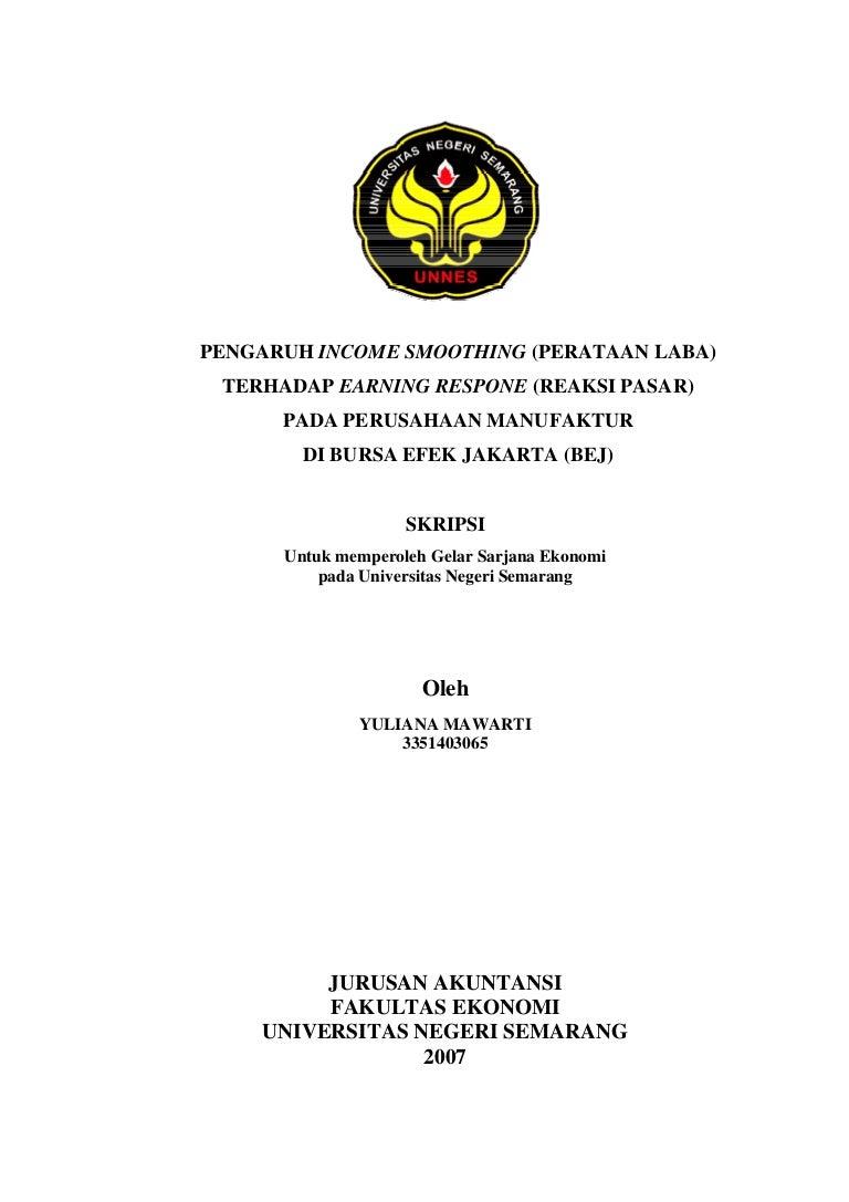 Contoh proposal skripsi manajemen keuangan unpam