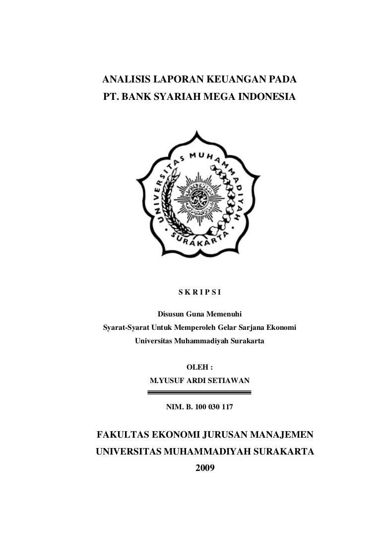 Skripsi Analisis Laporan Keuangan Pada