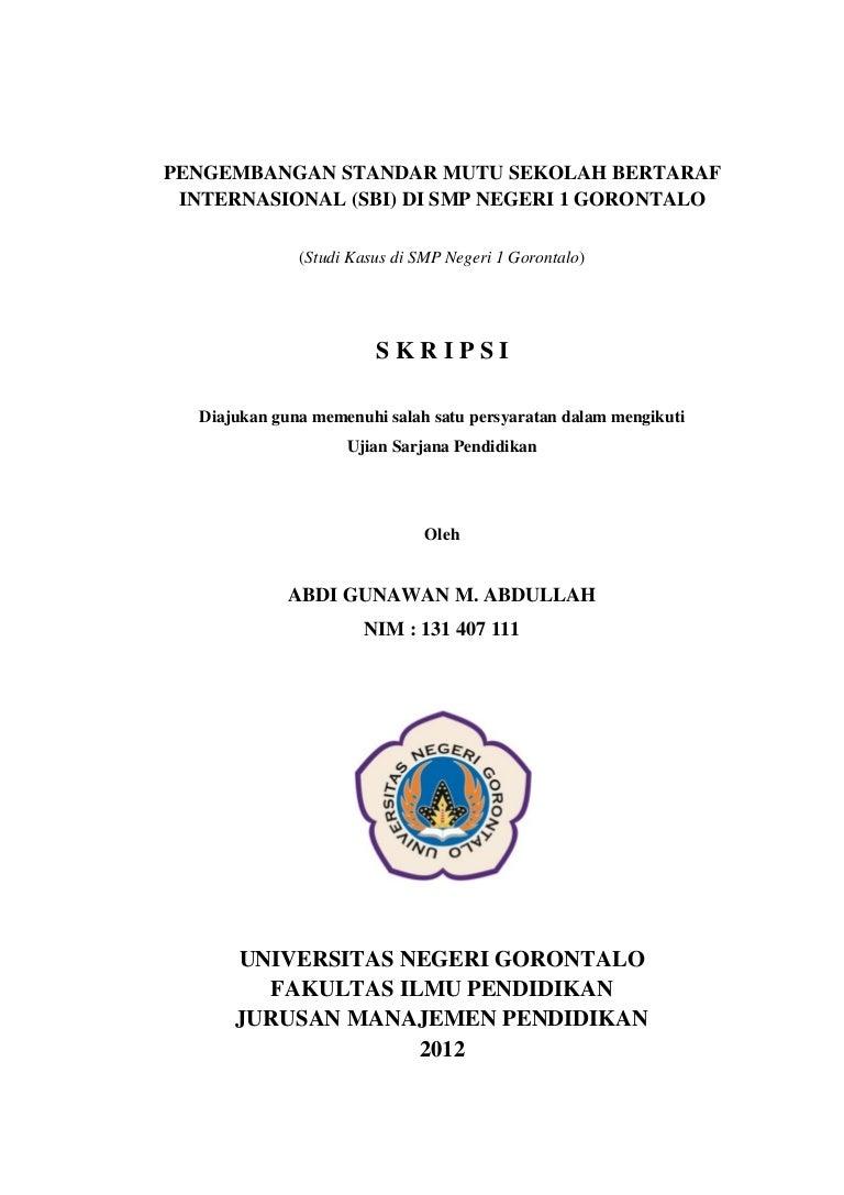 Skripsi Manajemen Pendidikan Ung