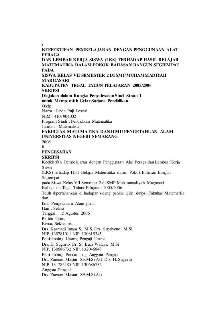Skripsi Matematika Dari Pdf