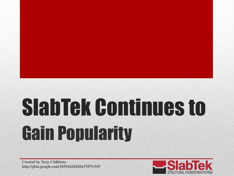 SlabTek Foundations Projects Completed