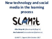 New Tecnology and Social media in the learning process. Reading in digital devices