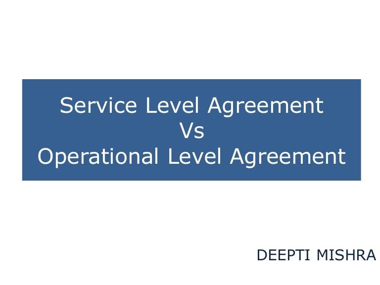 Sla Ola - Operational level agreement template