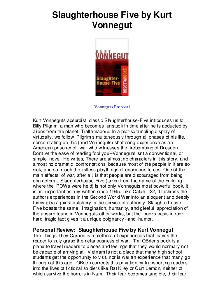slaughterhouse five analytical essay A summary of themes in kurt vonnegut's slaughterhouse-five learn exactly what happened in this chapter, scene, or section of slaughterhouse-five and what it means perfect for acing essays, tests, and quizzes, as well as for writing lesson plans.