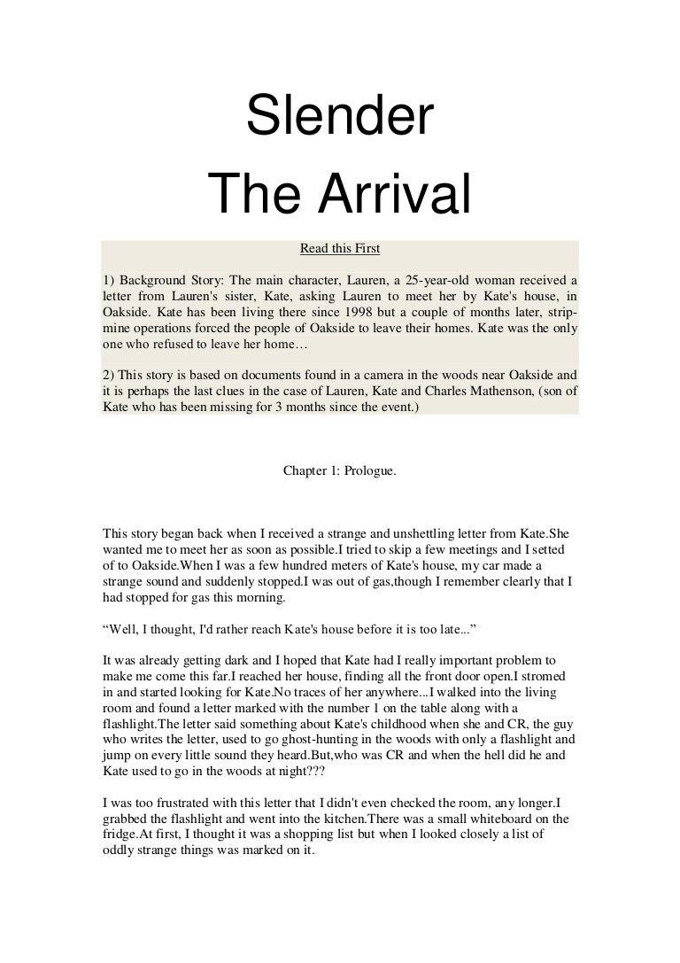Slender the arrival story