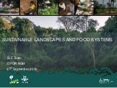 Sustainable landscapes and food systems