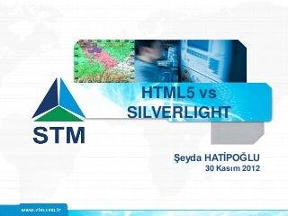 HTML5 vs Silverlight