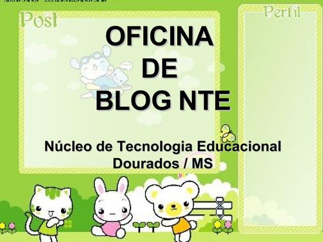 Slide Oficina De Blog