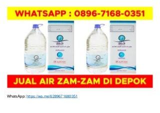 WA O896-7168-O351, Agen Air Zam Zam di Jakarta di Depok