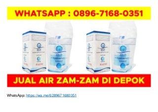 WA O896-7168-O351, Jual Air Zam Zam Padang di Depok