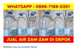 Agen Air Zam Zam di Jogja WA O896-7168-O351 di Depok