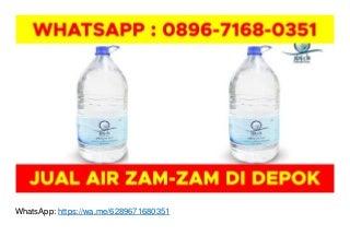 Agen Air Zam Zam di Makassar WA O896-7168-O351 di Depok
