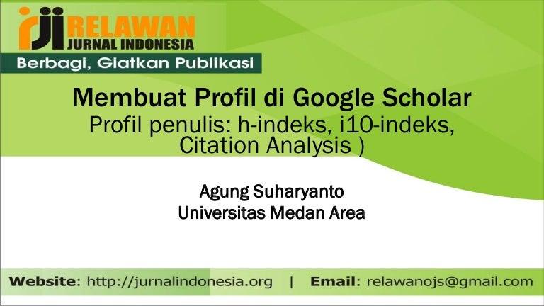 Membuat Profil Di Google Scholar