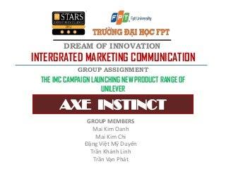 Presentation_The IMC of Axe Instinct