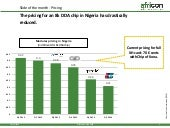 Slide of the month January - Prices of chips used in card payment in Nigeria