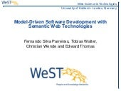 Model-Driven Software Development with Semantic Web Technologies