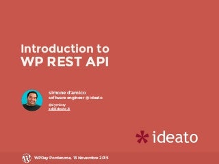 Introduction to WordPress REST API