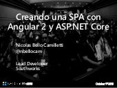 Creando una SPA con Angular 2 y ASP.NET Core