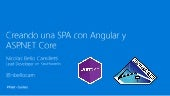 Creando una SPA con Angular y ASP.NET Core