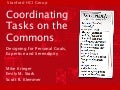 Coordinating Tasks on the Commons