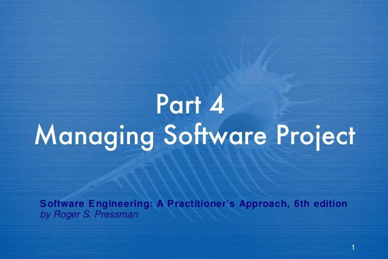 Ppts on software engineering by pressman 6th edition.