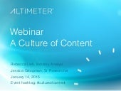 [Slides] A Culture of Content by Altimeter Group