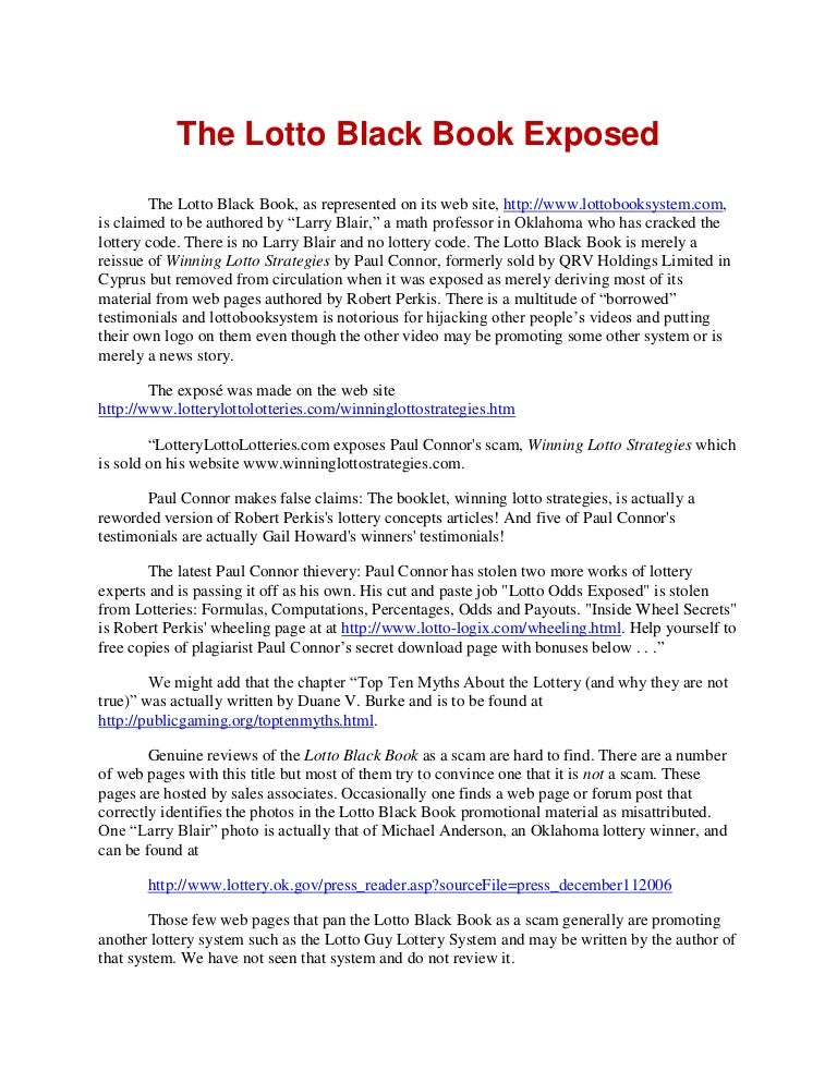 Lotto Guy Lottery System Pdf