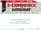 Increasing website conversion by humanizing the e-commerce experience