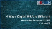 Byond M&ACast: 4 Ways Digital M&A Is Different