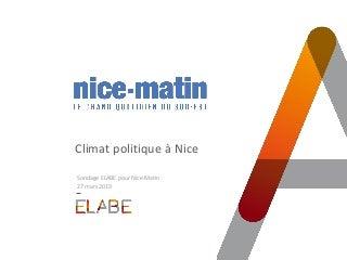 Municipales 2020 à Nice : match serré entre Estrosi et Ciotti / Sondage ELABE pour nice-matin
