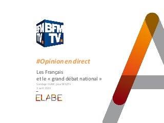 Grand débat : l'exécutif face au scepticisme et aux fortes attentes sur le pouvoir d'achat / Sondage ELABE pour BFMTV - L'Opinion en direct