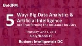 Five Ways Big Data Analytics and Artificial Intelligence are Transforming the Insurance Industry - Business Intelligentsia DC