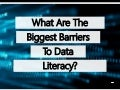 What Are The Biggest Barriers To Data Literacy?