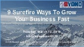 9 Surefire Ways To Grow Your Business Fast in 2019 - WITI Webcast