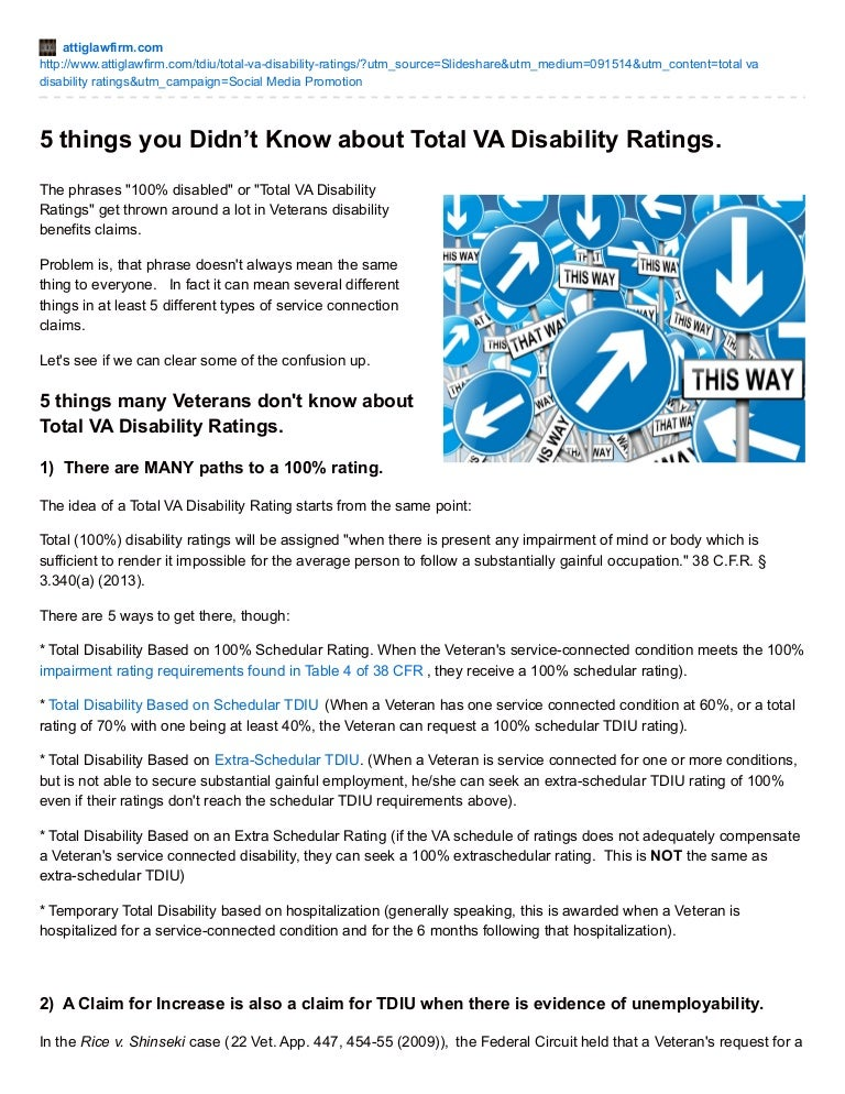 5 Things You Didn't Know about Getting VA Total Disability